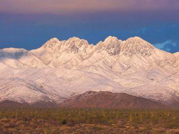 alaskas four peaks mountain