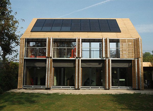 10 green homes made using bamboo green diary green revolution guide by dr prem - Maison passive design ...