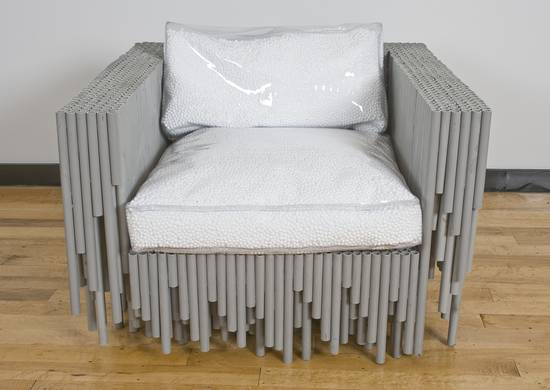 brc designs recycled pvc conduit table chair bed 2