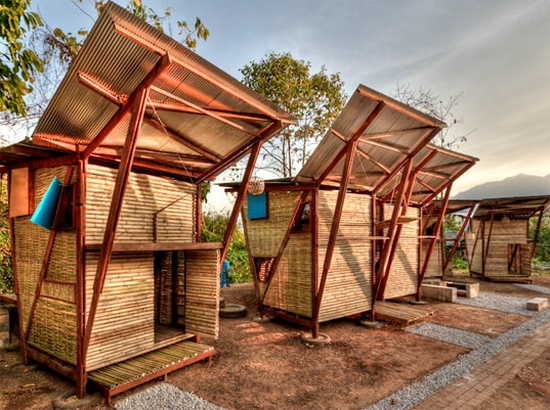 butterfly bamboo house