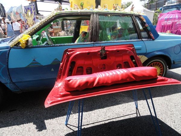 Crazy Ray's amazing furniture made from recycled material