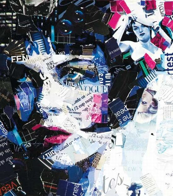 derrek gores recycled magazines collage art 5