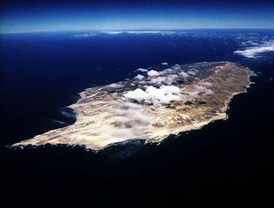 dolphin shaped san nicholas island