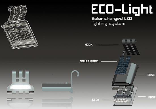 eco light solar charged led lighting system 1