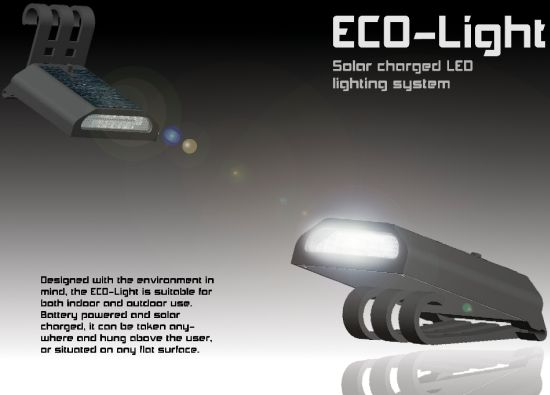eco light solar charged led lighting system