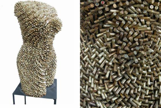Diyer assembles recycled materials to create sensually for Cool things to make with recycled materials