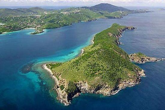 fish shaped thatch cay virgin islands