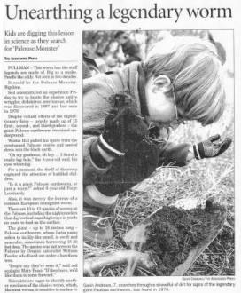 giant palouse earthworm found