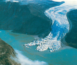 global warming melting glacier