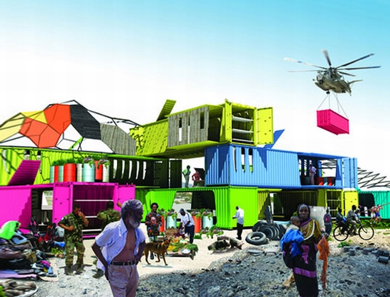 haiti shipping container homes