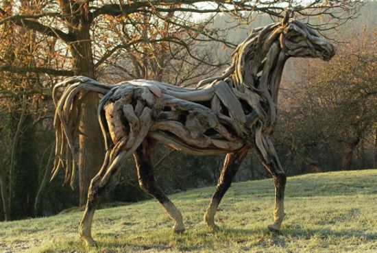 heather jansch s driftwood sculptures 1