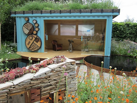 "Insect Habitat ""New Wild Garden"" at Chelsea Flower Show"