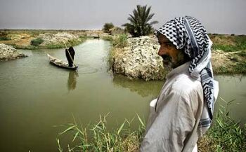 Photo: Mesopotamian Marshes in Iraq. Photo from Green Diary.