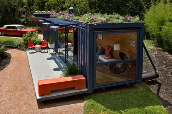 Shipping Container Transformed Into A Stunning Garden