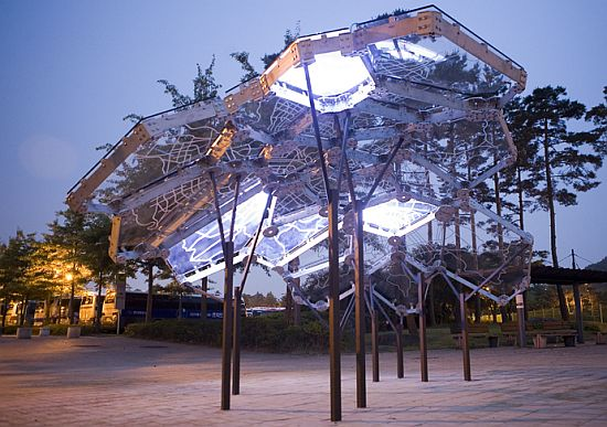Futuristic Buildings Materials a Futuristic Building Façade