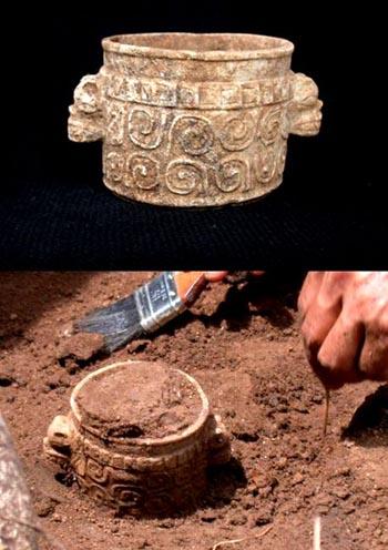 maya death vase found