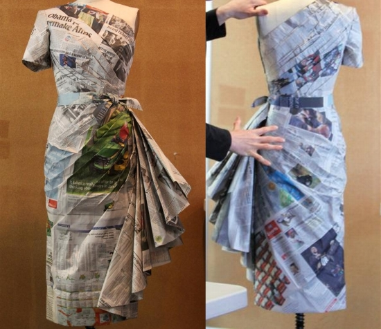 newspaper dress12