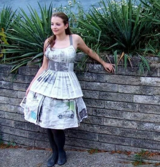 newspaper dress15