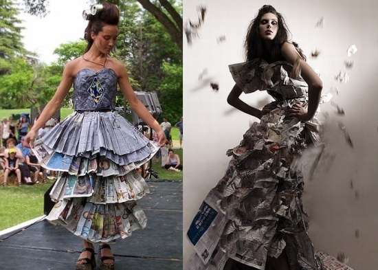 newspaper dress25