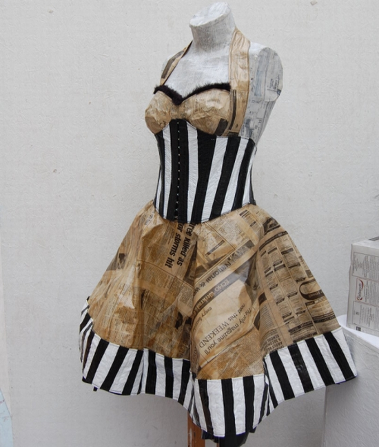 newspaper dress2