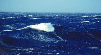ocean surface in motion