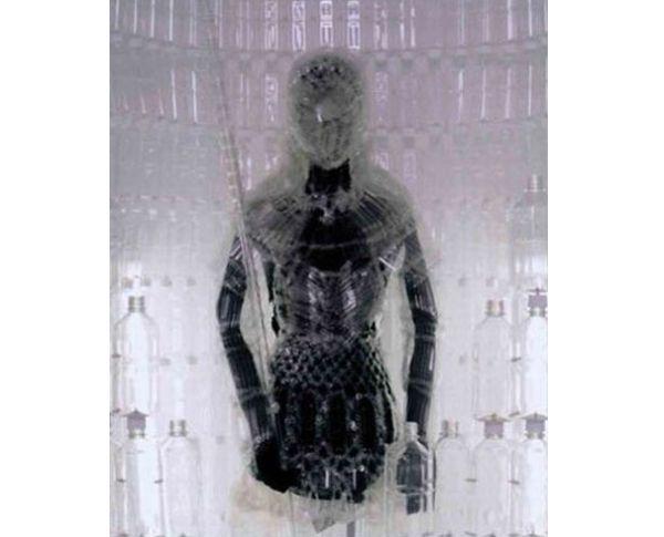 PET plastic bottle armor suit