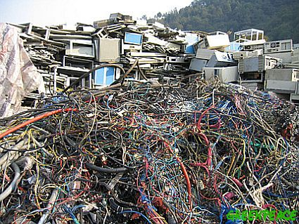 piles of cables and computer w
