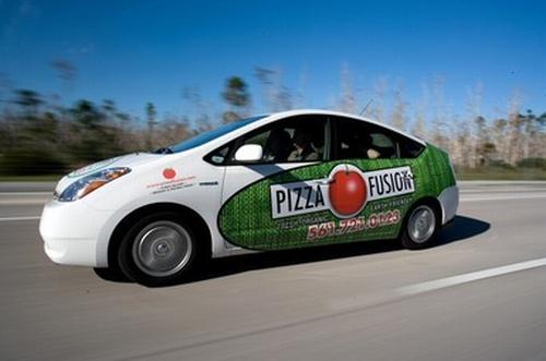 pizza fusion car