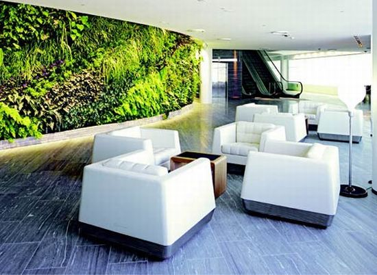 qantas first lounge living wall 2