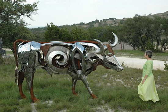 recycled bull 1