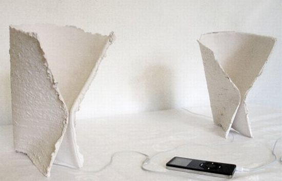 recycled paper ceramic speaker