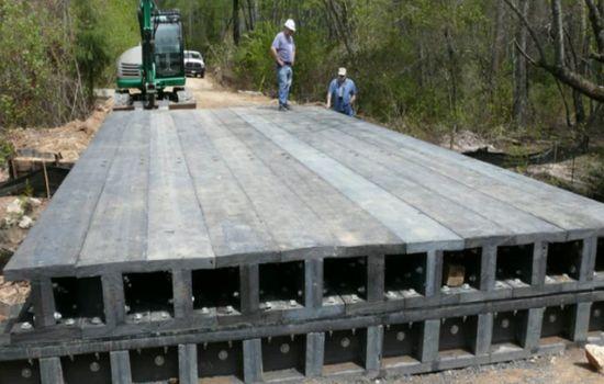 recycled plastic bridge