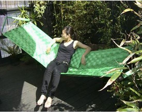 recycled seatbelts hammock 2
