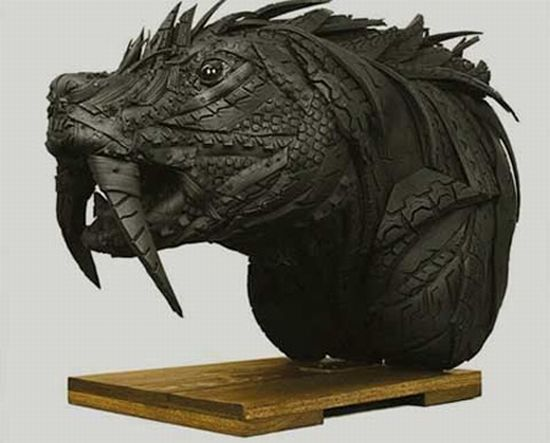 recycled tire sculptures4