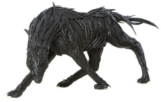recycled tire sculptures7