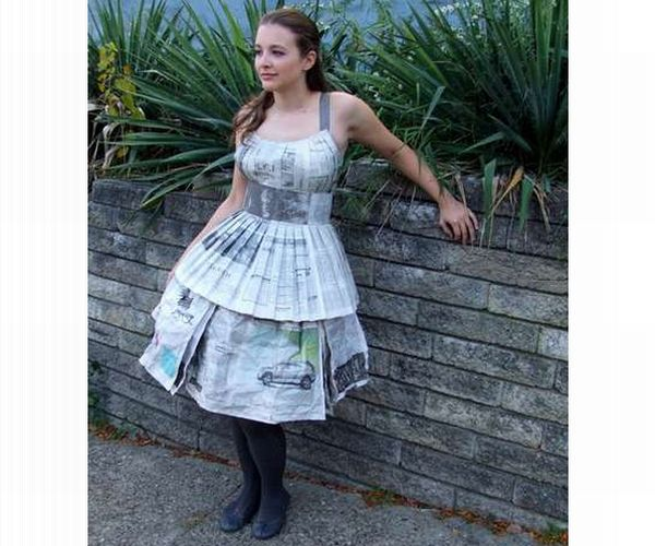Recycled Paper Dresses