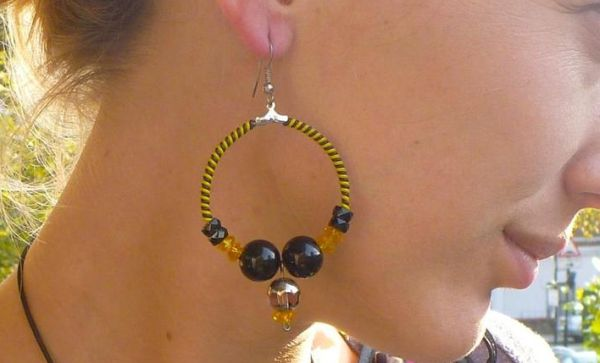 Recycled Telephone Wire Earrings
