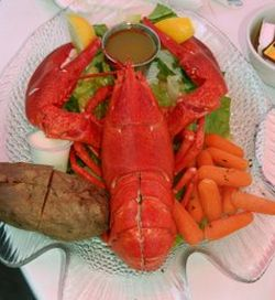 red shelled lobster dish 9
