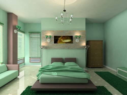 Redecorated eco-friendly room