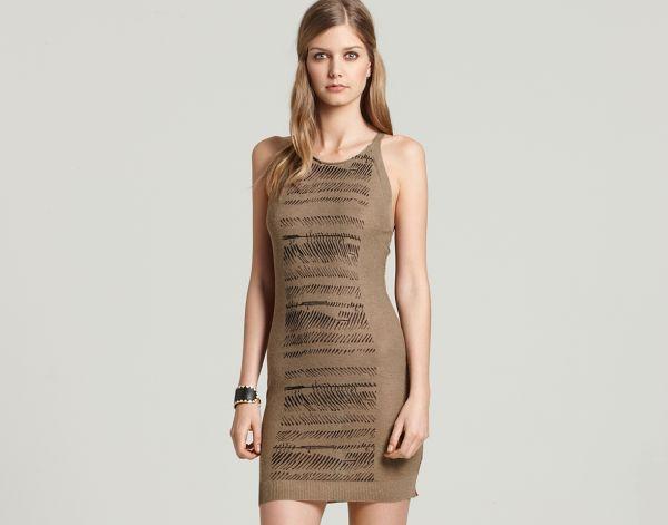 Safari-printed tank dress