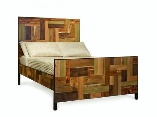 Salvaged wood bed
