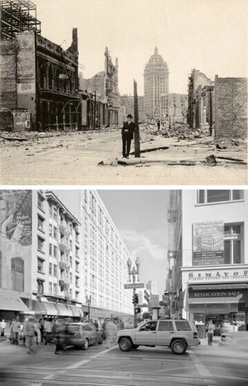 san francisco after the ruins and now