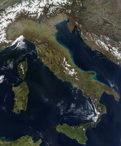 satellite image of italy 9