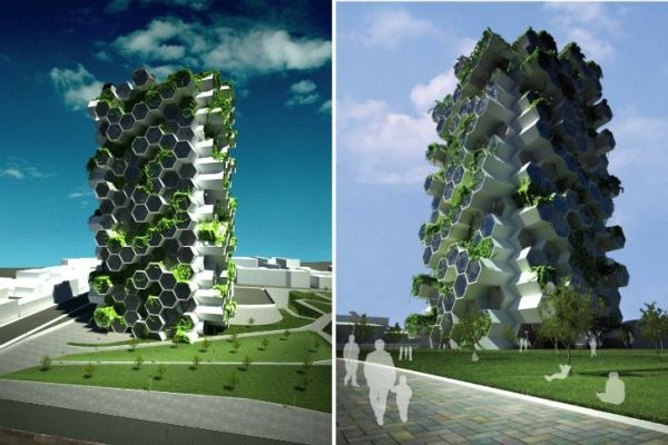 Five stunning self sufficient vertical farm designs for Farmhouse tower