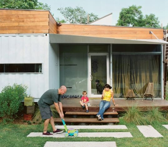 shipping container home in houston