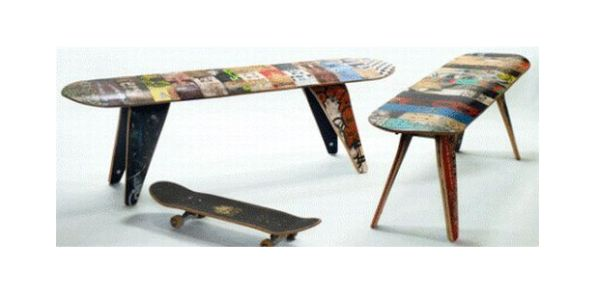 Seven Inspiring Ways To Recycle Skateboards Green Diary