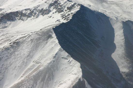 snow clad rocky mountains