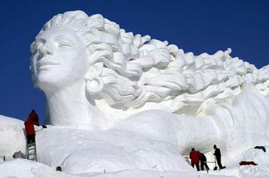 Красивые фигуры из снега