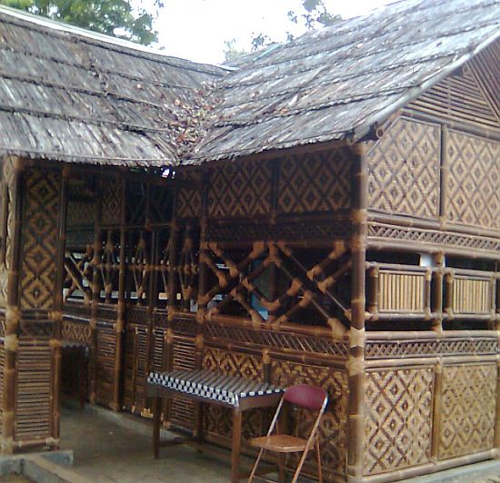 sundanese house made from bamboo