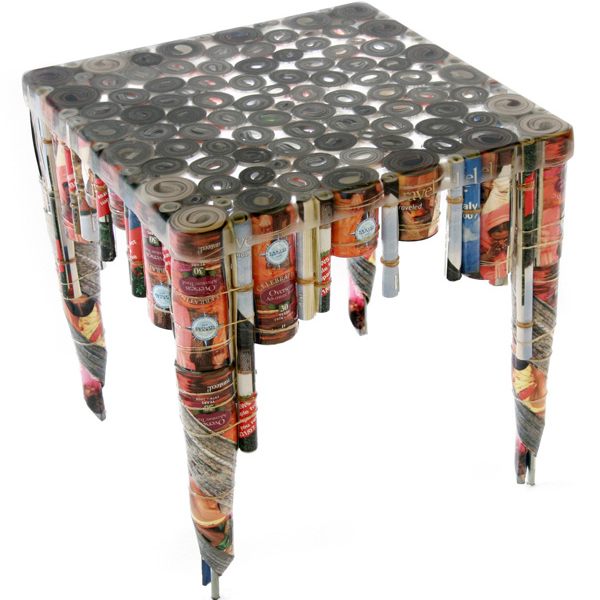 10 interesting furniture items made from recycled for Recycling of waste material